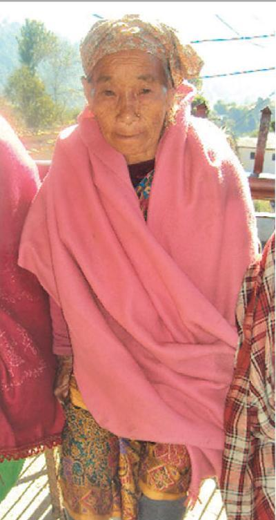 72 years old Belamati Pun from Majhakada, Salyan.